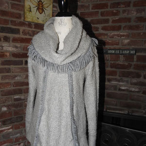 Anthropologie Angel of the North Gray Sweater Med